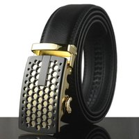 Wholesale Fashion Design Mens Belt Buckle - 2017 New Arrival design mens belt Fashion genuine leather belt for men casual luxury Cowhide male strap 110cm-130cm waistband,KB42