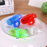 Wholesale fingers blisters - Edison2011 LED Laser Fingers Light Gadget Beams Party Nightclub Glow Light Ring 4 Colors Mix Blister Card Package