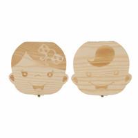 holzkiste pvc großhandel-Zahn Box New Organizer Für Baby Milch Zähne Speichern Holz Aufbewahrungsbox Für Kinder Jungen Mädchen
