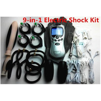 Wholesale Cock Stimulation - HOT Male Electro-Stimulation Play Sex Kit ElectroSex Gear Sex Toys Electro Pulse Shock Therapy Urethral Penis Plug Cock Ring Butt Anal Plug