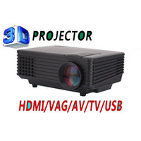 Atacado-Hot Venda 800 * 480p MC-T805 com TV mais barato LED projetor mini projetor planetário INPUT hdmi USB VGA AV TV Dispay WIFI