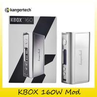 Wholesale Ecig Kanger Protank - Authentic Kanger KBox 160W TC Box Mod Kangertech KBOX 160 ecig Mods Temp Control Mode Ni Ti SS NiCr fit Protank 4 kit 100% Genuine 2211068