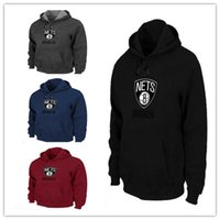Wholesale Cheap Brand Hoodies - Cheap Brand Logo Cottonl Brooklyn Nets Twins Men' Long Sleeve Hoodie Black sports sweatshirt free shipping size S-XXXL