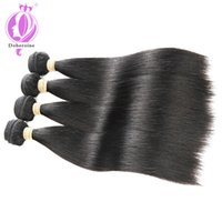 Wholesale natural human hair extensions best for sale - Group buy Unprocessed Virgin Brazilian Hair Extensions straight best Quality inch Weave Weft Thick Straight Human Hairs