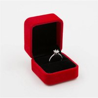 Wholesale Dhl Jewellery - Wedding Jewellery Earring Ring Holder Storage Box Gift Packing Box For Rings Stud Earrings 8 colors DHL free ship
