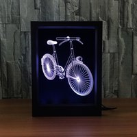3D Bike LED Photo Frame Decoration Lamp IR Remote 7 RGB Lights DC 5V Factory Wholesale Drop Shipping