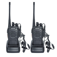 rádios de fiambre hf venda por atacado-2 pcs Walkie Talkie Rádio BaoFeng BF-888S 5 W Portátil Ham CB Rádio Em Dois Sentidos Handheld HF Transceptor Interfone bf-888s