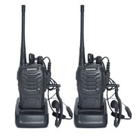 Wholesale Uhf Portable Transceiver - 2pcs Walkie Talkie Radio BaoFeng BF-888S 5W Portable Ham CB Radio Two Way Handheld HF Transceiver Interphone bf-888s