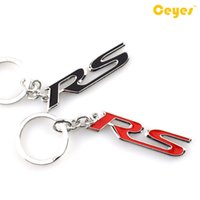 Wholesale Rs6 Badge - Car Keyring Car key chain Logo RS emblems badge for Audi RS rs3 rs4 rs5 rs6 rs7 Car Accessories Styling