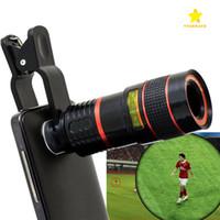 iphone akıllı cep telefonu toptan satış-Teleskop Lens 8x Zoom Unniversal Optik Kamera Iphone İçin Klipsli Telefoto Len LG HTC Sony LG Cep Akıllı Cep Telefonu