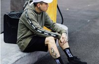 Wholesale Long Sleeves Tattoo Clothing - Hot Sales Men's hooded Tattoo Ribbon Letter Hats Hooded Hip Hop BF Couples kanye yeezus Hoodies palace Brand Clothing