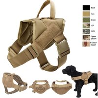 Outdoor Camouflage Plate Carrier Roupa para cães Carga Jacket Gear Vest Tactical Dog Training Molle Vest NO06-202