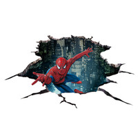 Wholesale Decorative Roof - 2017 Hot Sale Car Styling Creative 3d Cartoon Car Sticker Spiderman Creative Vinyl Stickers Car Accessories Decorative Decal