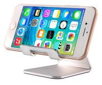 Wholesale Desk Charger - Universal Aluminum Metal Mobile Phone Tablet Desk Holder Stand For iPhone Xiaomi For Samsung For iPad Charger Desk Stand