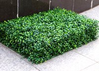 Wholesale artificial plastic topiary plants online - 2017 NEW Artificial Grass plastic boxwood mat topiary tree Milan Grass for garden home wedding decoration Artificial Plants MYY