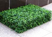 ingrosso piante artificiali di boxwood-2017 NUOVO Erba artificiale stuoia di legno di bosso topiaria albero Milano Erba per giardino, casa, decorazione di nozze Piante artificiali MYY