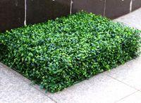 dekoratif suni çim toptan satış-2017 YENI Suni Çim plastik şimşir mat topiary ağacı Milan Çim bahçe için, ev, düğün dekorasyon Yapay Bitkiler MYY