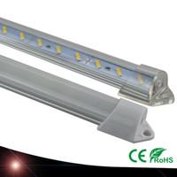 barra rígida luz blanco puro al por mayor-Impermeable 5630 SMD 50 cm 36 LED Barra rígida de barra de gabinete rígida Luz Blanco puro Blanco cálido con tapa DC12V