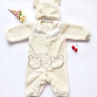 Wholesale Animal Fleece Rompers - Winter Newborn Warm Baby Rompers Infant Baby Clothes Fleece Animal Style Clothing Romper Baby Clothes Cotton-padded Overalls