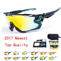 Wholesale Men Cycling Sunglasses - 2017 Polarized Brand Cycling Sunglasses Racing Sport Cycling Glasses Mountain Bike Goggles Interchangeable 3 Lens Jawbreaker Cycling Eyewear