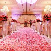 ingrosso fiori artificiali-1000pcs Moda poliestere artificiale fiori per decorazioni romantiche matrimonio petali di rosa di seta coriandoli nuova venuta colorata