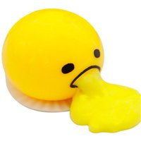 Wholesale Soft Rubber Gag - Wholesale-Vomiting Egg Tricky Toys Squeeze Will Spit Yolk Can Be Eaten Back Soft Rubber Gag Practical Jokes Vent Fun Toy Gifts