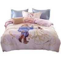 Wholesale Crib Bedding Sets Wholesale - Bella Children Cartoon Bedding Sets Beauty And The Beast Princess Three-piece Pillows Bedsheet Quilts Cover 100% Cotton Free Shipping