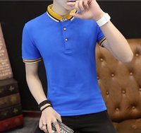 Wholesale 2017 new summer men s short sleeved casual cotton polo shirts can be sold in a variety of retail outlets