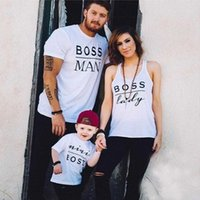 Wholesale Wholesale Valentine Shirts - Wholesale- Newest Valentines Gift BOSS MAN BOSS LADY & MINI BOSS Matching Family T Shirts Couple T-Shirt Mother Daughter Son