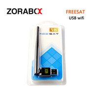Wholesale Wholesale Satellite Antenna - 50pcs USB wifi Freesat V8 Wifi with Antenna Wireless For Freesat V7 V8 series digital satellite receivers V8S V6S