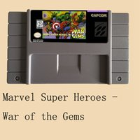 Marvel Super Heroes-War of the Gems 16 bit grande carta grigia per il giocatore di gioco NTSC / PAL