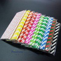 Wholesale straw stars wholesale - Stripe Pattern Straw Fashion Degradable Paper Tubularis Round Dot Stripe Stars High End Disposable Straws Hot Sale 0 06xs BC