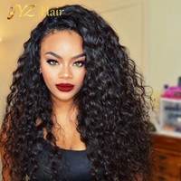 Wholesale Glueless 22 Inch Lace Wig - JYZ New Arrived Glueless full lace wigs for black women Malaysian virgin hair deep wave lace front wigs 10-26 inch Human Hair Wig