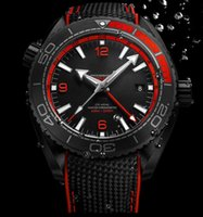 Wholesale Rubber Wrist Watch Date - Luxury New Style AAA Top Quality Planet Ocean 600M GMT Deep Black And Red Automatic Machinery Mens Watch Men's Sport Wrist Watches