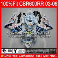 Wholesale black white fairings resale online - 8Gifts Colors Injection For HONDA CBR RR CBR600RR HM4 CBR RR F5 CBR600F5 CBR600 RR Fairing white black