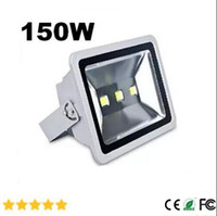 Wholesale Garden Sign - IN stock AC85- 265V 150W high Quality LED flood light spot light projection lamp Signs lamp Waterproof outdoor Landscape Garden floodlightS