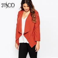 Wholesale Tailor Suit Women - Fashion Waterfall Relax Blazer Feminino Plus Size Formal Tailored Jacket Office Women Tuxedo Blazers Suit 6xl 7xl High Quality