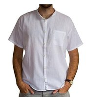 Wholesale Grandad Shirt Short Sleeves Cotton Various Colors Ethically Traded