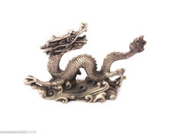 Wholesale Oriental china old collectible Tibet Silver carved dragon statue decoration Jewelry Gift Christmas