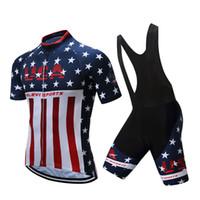 roupa do tinkoff do banco saxo venda por atacado-EUA Estilo Ciclismo Tops Com Bicicleta Bib Calças de Ciclismo Jerseys Quick Dry Bicicleta Comprimida Roupas Homens Mulheres Tamanho XS-4XL