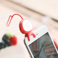 Wholesale Cute Aliens - Super Cute Alien Taki 2 in 1 Selfie Phone fill-Light MARTUBE Bluetooth Selfie LED Lamp Remote Control Self-timer For Smartphones