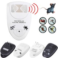 US / EU Electronic Ultrasonics Rat Mouse Repellente Repellente Anti Mosquito Insetto Repeller assassino Roditore Pestidi Bug Rifiuta Mole Mole AY083-SZ