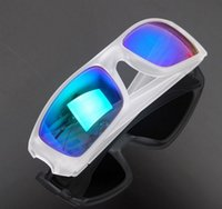 Wholesale Coloured Lenses - Fashion Designer Sunglasses Full Frame Summer Sunshade Eyeglasses For Mens Womens Resin lenses Outdoor Sports Dazzle colour Glasses cheap