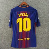 Wholesale Quick Match - Perfect 17 18 slim fit match worn issued soccer uniform player version football shirts soccer jerseys custom name number a.iniesta 8 pique