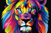 Wholesale pictures office walls - Home Office Decoration Living Room Art Wall Decor HD Prints Animal Color Lion King Oil Painting Pictures Printed On Canvas