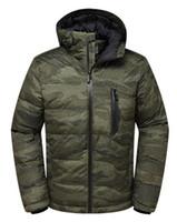Wholesale full ski suit - Men's down jacket outdoor new wind waterproof camouflage Ski suit breathable movement hooded long sleeve Men's Down jacket