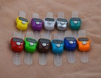 Wholesale Mini Hand Hold Band Tally Counter LCD Digital Screen Finger Ring Electronic Head Count Tasbeeh Tasbih Free DHL Fedex