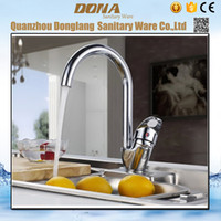 Wholesale Mixer Zinc Faucet - Wholesale- Free shipping Best quality Zinc alloy kitchen sink faucet with 360 degree rotation chrome kitchen sink water mixer tap