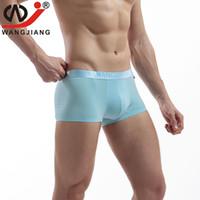 Wholesale Army Men Bulges - Mens Underwear Boxers WJ Slip Homme Cuecas Sexy Boxershorts Men Bulge Pouch Shorts Penis Boxers Trunks Modal 2017 Men New Boxers