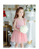 Wholesale Tutu Double Color - Girls princess dresses Summer children double lace fly sleeve dress kids lace tulle tutu dress girl party dress children's day clothes A0721
